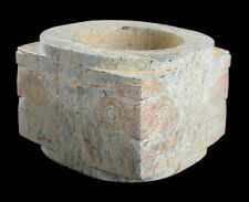 ANCIENT CHINESE CALCIFIED JADE CONG - LIANGZHU CULTURE