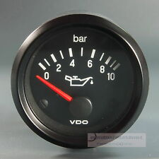 VDO OELDRUCK INSTRUMENT 10 bar GAUGE 12V  52mm Cockpit international classic sw.