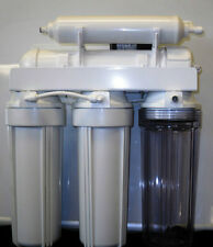 6 STAGE REVERSE OSMOSIS WATER FILTER  REMINERALIZER & PERMEATE PUMP 100GPD