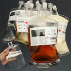 Clear PVC Material Reusable Blood Energy Drink Bag Halloween Party Supplies