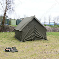 Olive Green US SMALL WALL TENT WW2 Wax Canvas Army Camping Shelter Kit Repro