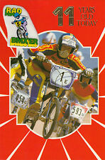 Vintage 1980s Raleigh Burner BMX Happy 11th Birthday Greeting Card ~11 Years Old