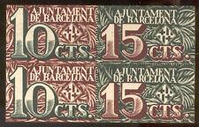 Municipio di Barcellona 10 y 15 Centesimi  @ Barcelonès - Barcellona @