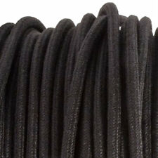 Black DENIM textile fabric lighting electrical cord cloth cable 3 core