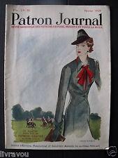 ▬► Patron Journal Favoris 02/1939  Magazine de Mode No Vogue Art Déco Fashion
