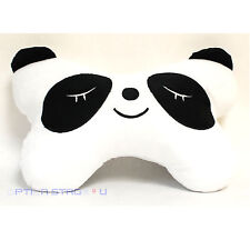 Cute Panda Face White Car Seat Head Rest Neck Cushion Pillow One Pair