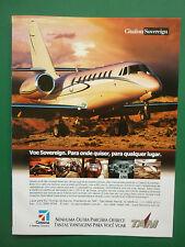 2000'S PUB CESSNA AIRCRAFT AVION CITATION SOVEREIGN BUSINESS JET PORTUGUESE AD