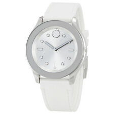 Movado Bold Silver Dial White Silicone Ladies Watch 3600419