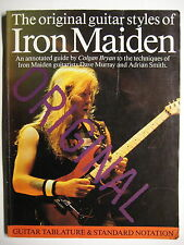 "IRON MAIDEN SONGBOOK TABULATUR ""THE ORIGINAL GUITAR STYLES OF MAIDEN"" GUITAR TAB"