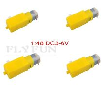 4pcs 1:48 DC3-6V Uniaxial DC Geared Motor TT  Magnetic Gearbox for Smart Car