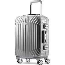 "Samsonite Tru-Frame Hard Shell Carry-On Matte Silver 20"" Spinner Suitcase"