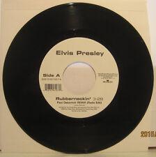 """Elvis Presley """"Rubberneckin'"""" (Paul Oakenfold) White label BMG 45rpm MINT/NEW"""