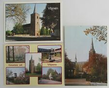Groeten uit VLIJMEN Holland Niederlande Lot Postkarten 3x color Ansichtskarte