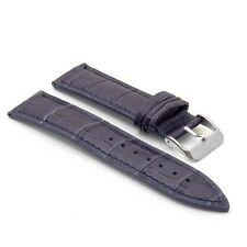 StrapsCo Matte Finish Crocodile Watch Band Mens Croc Watch Strap Alligator
