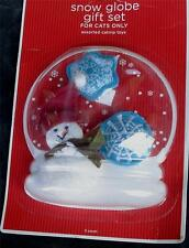 BRAND NEW IN PACKAGE Snow Globe Gift Set for CATS ONLY, Assorted Cat Nip Toys