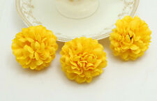 10pcs Yellow NEW Daisy Artificial Silk Flower Heads Wedding DIY