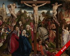CRUCIFIXION OF JESUS CHRIST CHRISTIAN CLASSICAL PAINTING ART REAL CANVAS PRINT