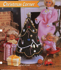 """CHRISTMAS TREE & GIFTS""~Plastic Canvas PATTERN ONLY for BARBIE FASHION DOLL"