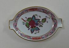 HEREND AF CHINESE BOUQUET Apponyi Fleur Decor Vintage Porcelain PEONY ASHTRAY