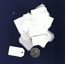 100 Small Blank Handmade Gift Price Tags - White - Cardstock Hang Small