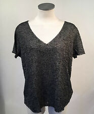 Project Social T Women's V-Neck Shirt Textured Knit Charcoal XS NEW Urban