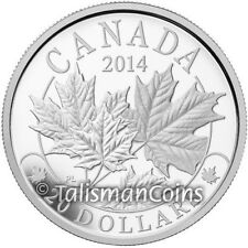 Canada 2014 Majestic Maple Leaves 1 SML $20 Pure Silver Maple Leaf Proof