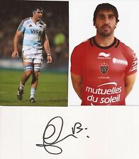 TOULON: JUAN MARTIN FERNANDEZ LOBBE SIGNED 3x5 WHITECARD+2 UNSIGNED PHOTOS+COA