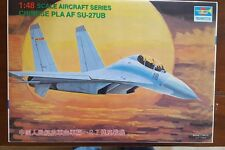 Trumpeter Model Kit 1:48 Scale Aircraft Chinese PLA AF SU-27UB New Open Box