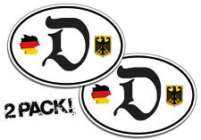 2 Pack Of Custom German Decal Stickers Deutschland Window Graphics Germany Pride
