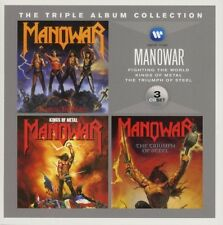 MANOWAR-THE TRIPLE ALBUM COLLECTION (FIGHTING T.WORLD/KINGS O.METAL/+) 3 CD NEW