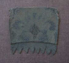 ANTIQUE FLAPPER ENAMELED MICRO MESH METALLIC BAG FOR PURSE WITH FRINGE