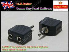 2 x 3.5MM 1 in 2 out Stereo Headphone Earphone Audio Splitter Adapter