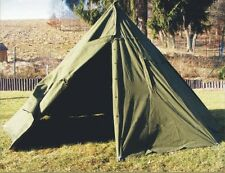 Genuine Army Surplus 2 MAN CANVAS TEEPEE TENT Rain Ponchos festival camping +