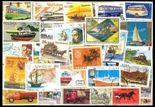 TRANSPORT ON STAMP-50 Different World wide Large Thematic Genuine Postage Stamps