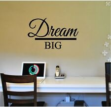 DREAM BIG Wall Sticker Wall Art Decor Vinyl Decal 12x20 Wall Lettering Quotes