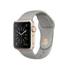 Brand New Apple Watch Series 2, 38mm Gold Aluminum Case with Concrete Sport Band