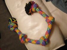 Dog Life 5-Knot Rope Dog Toy, Multi-Color - Large, 30'' Inch