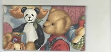 BLUE JEAN BEAR CHECKBOOK COVER TEDDY BEARS FABRIC NEW ITEM PANDA