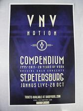 VNV Nation * ORIGINAL CONCERT POSTER * October 28th * Jannus Live