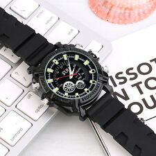 1080P Waterproof IR Night Vision Silicon Strap Watch Record Camera 8GB LM