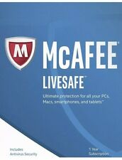 McAfee Livesafe 2017 | 1 Year | 1 Device | Email Delivery |