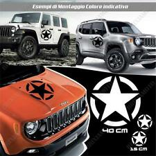 KIT 3 STICKERS STAR ARMY BODYWORK GRAPHIC JEEP RENEGADE OFF ROAD WHITE