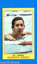 Figurina CAMPIONI DELLO SPORT 1970/71 - n. 231 - BJEDOV - NUOTO -rec