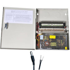 18 CH Power Supply Distributed Box 12V DC CCTV Security Camera + Pigtails CFA