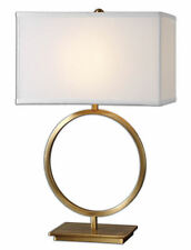 """Duara Gold Circle Contemporary Metal Table Lamp 29""""H by Uttermost 26559-1"""