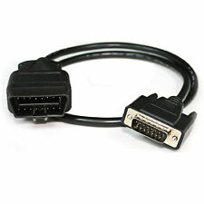 OBD2 16Pin a 15 Cable Adaptador De Puerto Serial Interfaz de diagnóstico de plomo para Isuzu