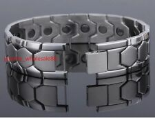 Men's bracelet Pure stainless steel Jewelry Magnetic Therapy health care bangle