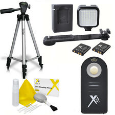 "50"" VIVITAR TRIPOD + 36 LIGHT LED +IR REMOTE FOR NIKON D3100 D3300 D5000 D5100"