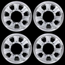 "4 2001-2010 Mazda 15"" Chrome Wheel Skins Hub Caps Full Covers 7 Spoke Steel Rim"