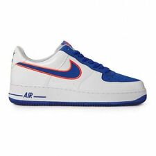 MENS NIKE AIR FORCE 1 SHOES SIZE 9.5 white royal orange 488298 142